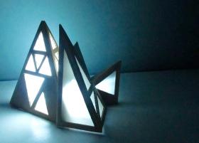 Cardboard Light Sculpture (2014)
